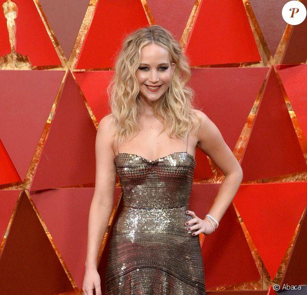 Jennifer Lawrence aux Oscars, Dolby Theatre, Los Angeles, le 4 mars 2018