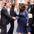 """Kate Middleton (enceinte), vient inaugurer les nouveaux locaux de """"Place2Be"""", un service de santé mentale, à Londres. Le 7 mars 2018"""