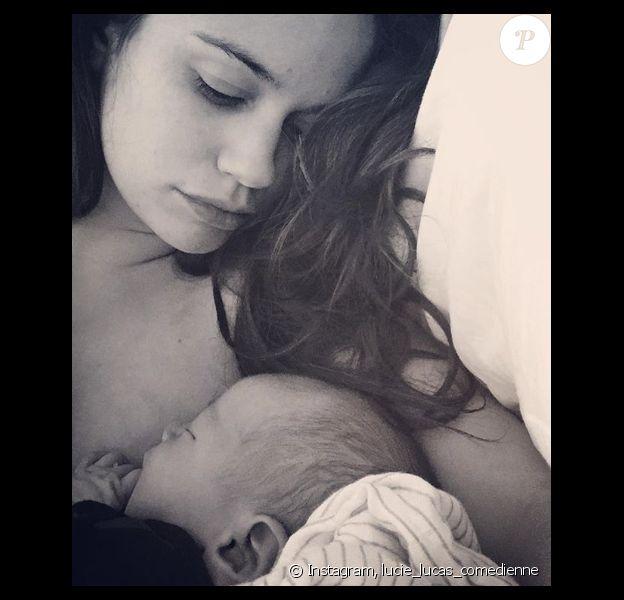 Lucie Lucas vient d'accoucher d'un petit garçon, le 9 mars 2018.
