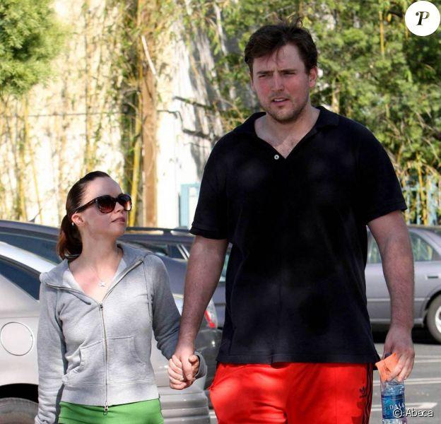 La petite Christina Ricci et son grand fiancé