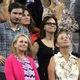 Sally Field et son fils Sam Greisman au tournoi de l'US Open à New York, le 2 septembre 2014