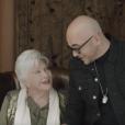 """Line Renaud et Pascal Obispo dans le clip """"Sa raison d'être 2018"""" pour Sidaction."""