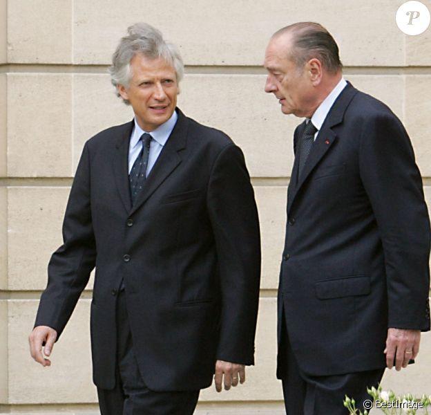 Premier conseil des ministres du gouvernement de Dominique de Villepin sous la présidence de Jacques Chirac, le 3 juin 2005 à Paris.