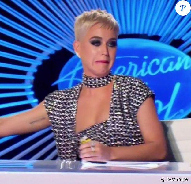 "Katy Perry dans l'émission ""American Idol"". Mars 2018."