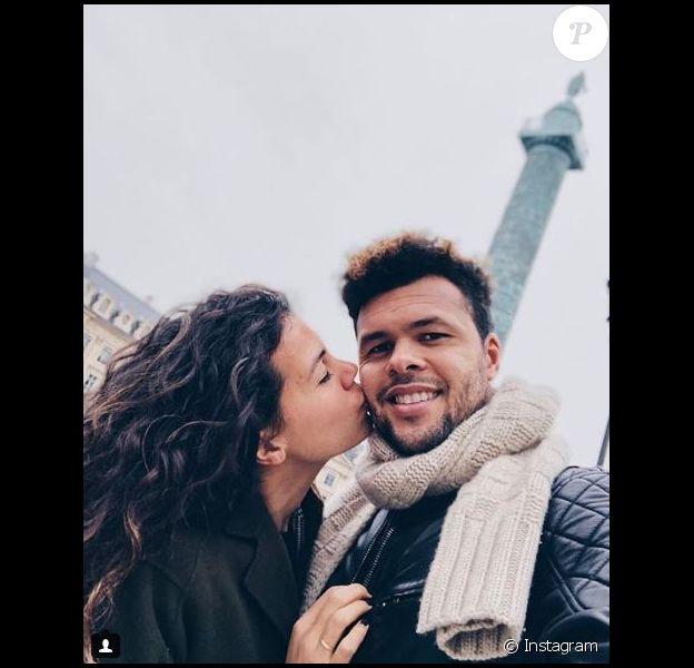 Jo-Wilfried Tsonga et Noura El Shwekh sur Instagram le 22 février 2018.           Noura El Shwekh