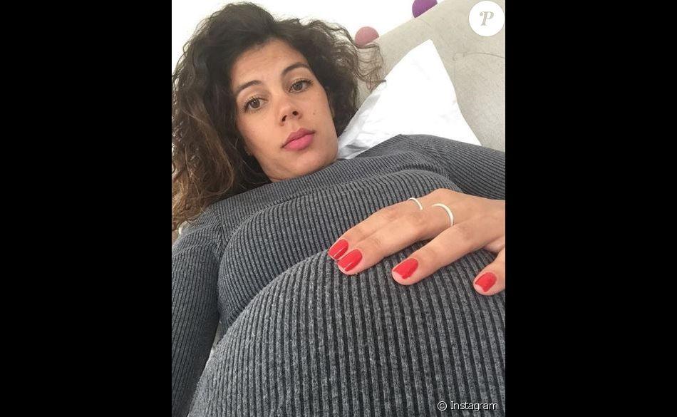 Noura El Shwekh, nostalgique de son ventre rond sur Instagram, mars 2018.