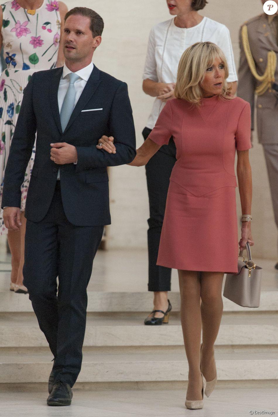 brigitte macron trogneux et gauthier destenay le mari de x bettel le premier ministre du. Black Bedroom Furniture Sets. Home Design Ideas