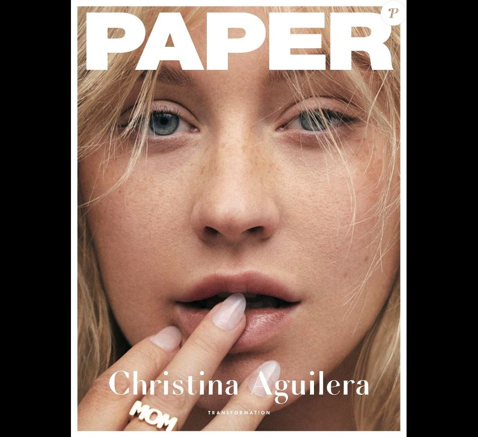 Christina Aguilera en couverture de Paper. 2018.