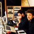 Patrick Bruel en studio en avril 2018, photo Instagram