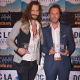 "Le réalisateur Didier Beringuer et le producteur Fabrice Sopoglian - Fabrice Sopoglian reçoit deux Awards pour le documentaire ""VIF"" sur la vie de Christian Audigier lors du festival DOC LA à Los Angeles le 20 octobre 2017."