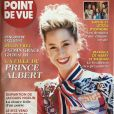 "Jazmin Grace Grimaldi en couverture de ""Point du vue"", en kiosques le 11 avril 2018."