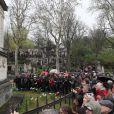 Obsèques de Jacques Higelin au cimetière du Père Lachaise à Paris le 12 avril 2018.