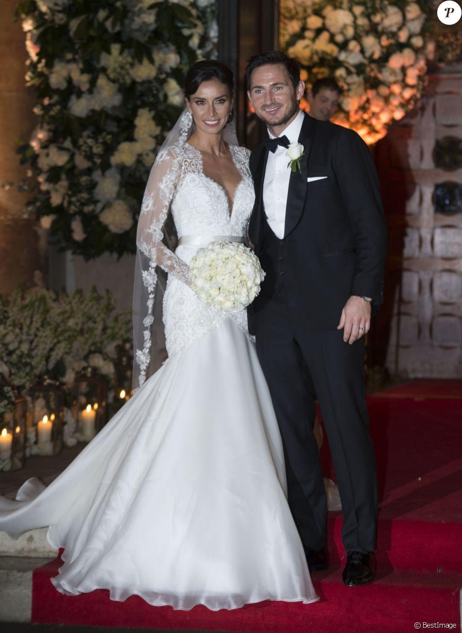 Christine et Frank Lampard lors de leur mariage à Londres le 20 décembre 2015.