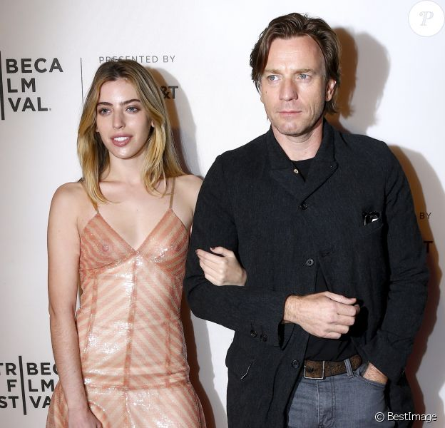 """Ewan McGregor et sa fille Clara à l'avant-première de """"Zoe"""" au Tribeca Film Festival à New York, le 21 avril 2018."""