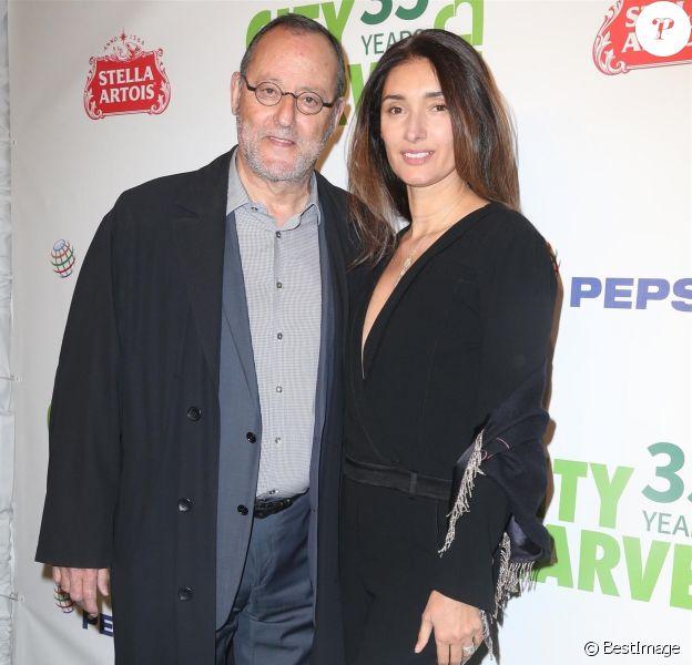 Jean Reno et sa femme Zofia Borucka au 35e gala annuel City Harvest à New York, le 24 avril 2018
