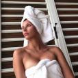 Camille Cerf sans maquillage le 25 avril 2018 en Polynésie française.