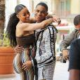Exclusif - Blac Chyna et son compagnon YBN Almighty Jay arrivent à l'événement Lashed Ladies à Los Angeles, Californie, Etats-Unis, le 29 avril 2018.
