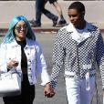 Exclusif - Blac Chyna et son compagnon BN Almighty Jay sont allés faire du shopping chez Macy à Los Angeles, le 27 mars 2018