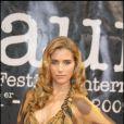 Vahina Giocante et son décolletée hallucinant, le 2 avril 2009, lors de la première édition du Festival du Film Policier de Beaune.