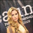 La grâcieuse Vahina Giocante, le 2 avril 2009, lors de la première édition du Festival du Film Policier de Beaune.