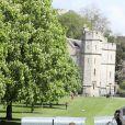 Les préparataifs se poursuivaient, le 3 mai 2018, dans la ville de Windsor à l'approche du mariage du prince Harry et de Meghan Markle.