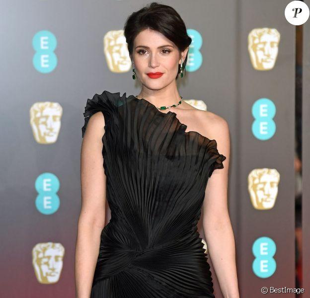 Gemma Arterton au photocall des BAFTA au Royal Albert Hall à Londres le 18 février 2018.