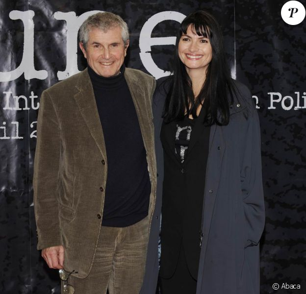 Claude Lelouch et sa compagne Valérie, lors du 1er Festival du Film Policier de Beaune, le 3 avril 2009 !