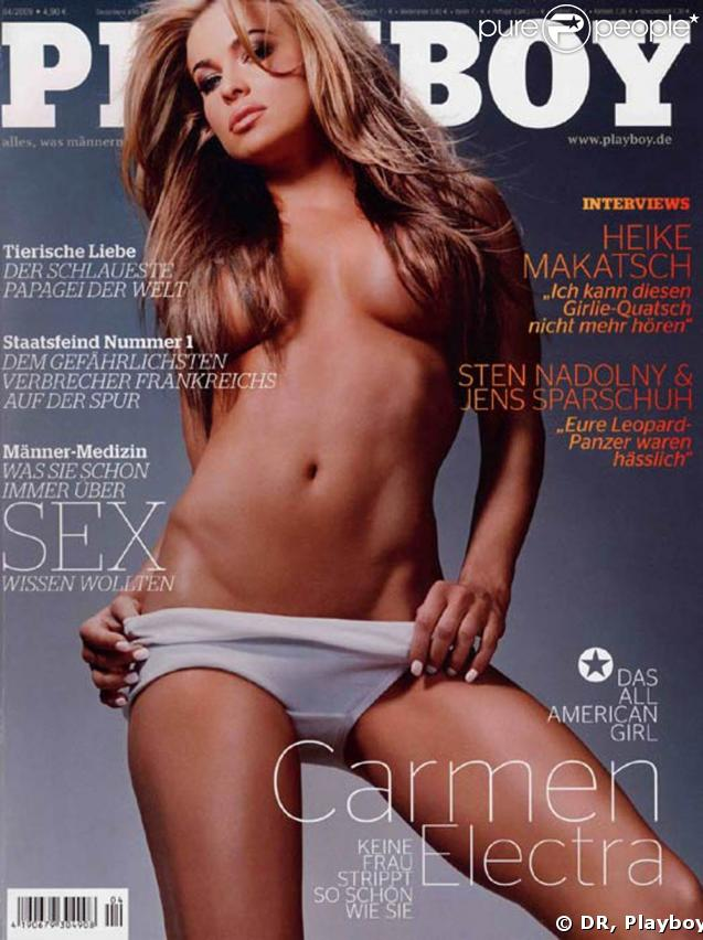Carmen Electra, au top en couverture du Playboy allemand !