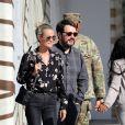 """Semi-exclusif - Laeticia Hallyday et son amie Yaël Abrot ont retrouvé Jean-François Piège et sa femme Elodie pour un déjeuner dans le restaurant """"Din Tai Fung"""" au centre commercial Westfield Century City à Beverly Hills le 7 mai 2018."""