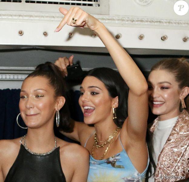 Bella Hadid, Kendall Jenner et Gigi Hadid - Les célébrités s'amusent au Up & Down Met Ball After-Party à New York, le 7 mai 2018
