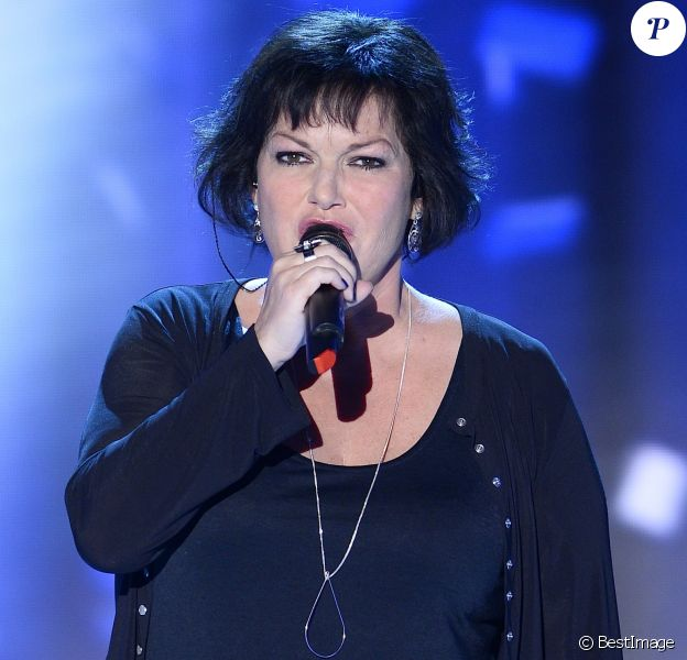 """Maurane - Enregistrement de l'émission """"Vivement Dimanche"""" à Paris le 25 Fevrier 2015."""