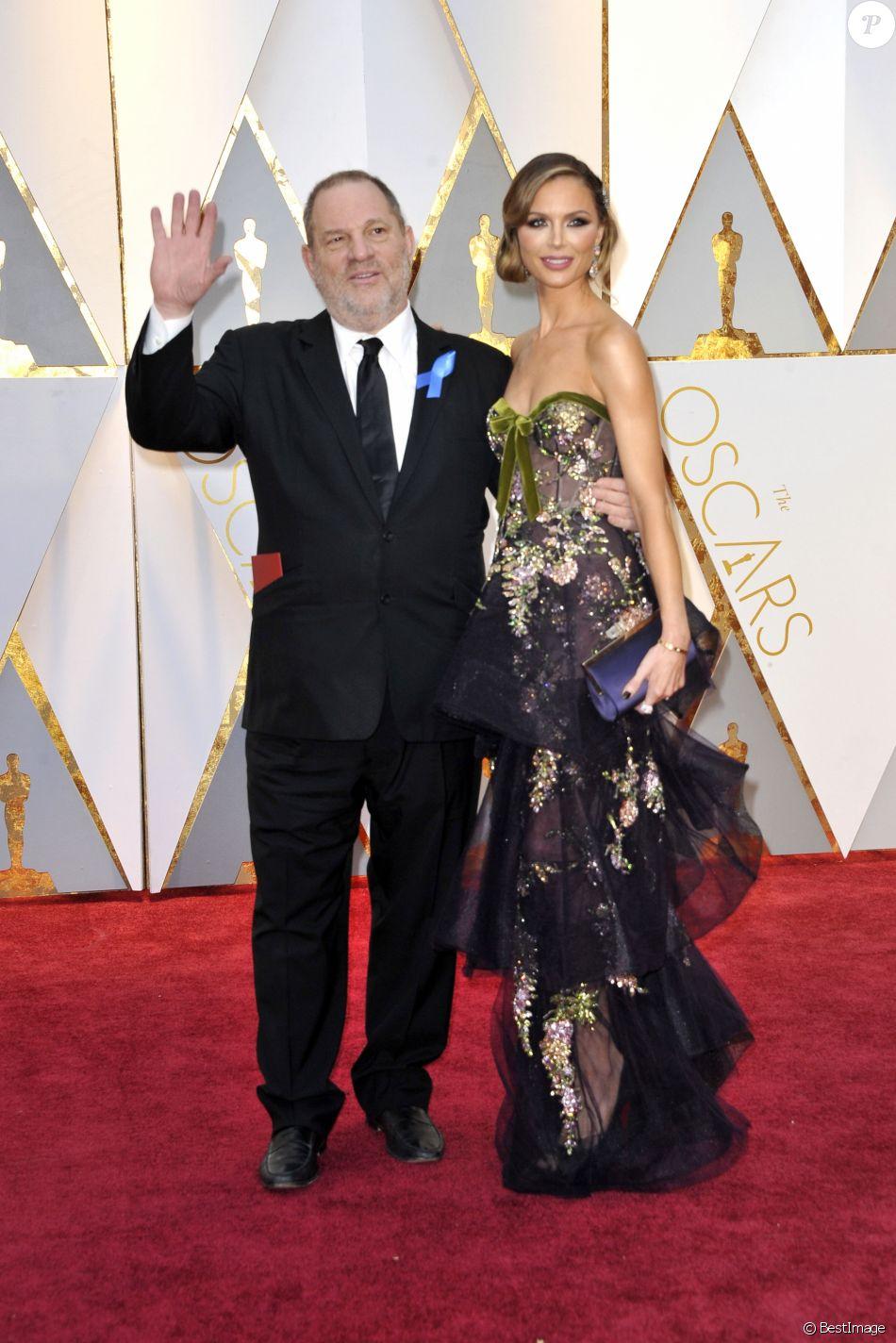 Harvey Weinstein et sa femme Georgina Chapman lors de la 89ème cérémonie des Oscars au Hollywood & Highland Center à Hollywood, le 26 février 2017. © Future-Image via ZUMA Press/Bestimage