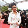 """Audrey Pulvar - Montée des marches du film """"Blackkklansman"""" lors du 71ème Festival International du Film de Cannes. Le 14 mai 2018 © Borde-Jacovides-Moreau/Bestimage"""