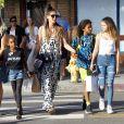 Heidi Klum, Johan Samuel, Leni Klum, Lou Sulola Samuel, Henry Samuel à Venice Beach, Los Angeles, le 8 octobre 2017.