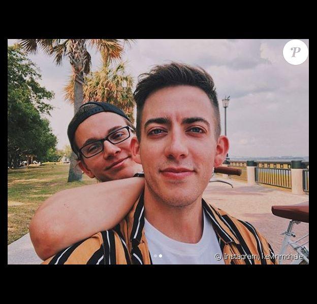 Kevin McHale et son chéri Austin. Instagram, mai 2018