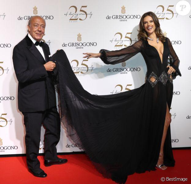 Alessandra Ambrosio et Fawaz Gruosi lors du photocall de la soirée du 25ème anniversaire de De Grisogono en marge du 71ème festival international du film de Cannes à Antibes le 15 mai 2018 © Borde / Jacovides / Moreau / Bestimage