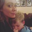 Hilary Duff et son fils Luca. Mai 2018.