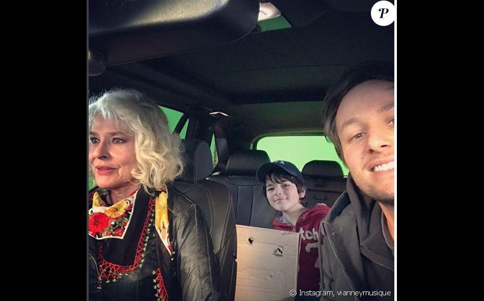 Vianney et Fanny Ardant sur le tournage de Ma mère est folle. Instagram, mai 2018