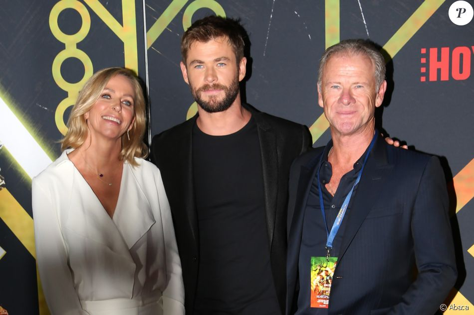 Leonie Hemsworth, Chris Hemsworth, Craig Hemsworth à Sydney, le 15 octobre 2017.