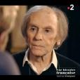 """Jean-Louis Trintignant interviewé par Laurent Delahousse dans l'émission """"19 le dimanche"""" sur France 2 le 20 mai 2018."""