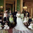 Photo officielle du mariage du prince Harry et Meghan Markle, duc et duchesse de Sussex par le photographe Alexi Lubomirski. Mai 2018.