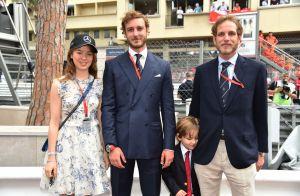 Andrea Casiraghi avec son fils Sasha dans les coulisses du Grand Prix de Monaco