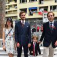 La princesse Alexandra de Hanovre, Pierre Casiraghi, Sacha et son père Andrea Casiraghi - Grand Prix de Formule 1 de Monaco le 27 mai 2018. © Bruno Bebert/Bestimage