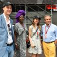 La princesse Alexandra de Hanovre et son compagnon Ben-Sylvester Strautmann, Jacky Ickx et sa compagne Khadja Nin - Grand Prix de Formule 1 de Monaco le 27 mai 2018. © Bruno Bebert/Bestimage