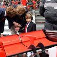 Pierre Casiraghi, Sacha et son père Andrea Casiraghi - Grand Prix de Formule 1 de Monaco le 27 mai 2018. © Bruno Bebert/Bestimage