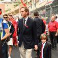 Andréa Casiraghi et son fils Sacha - Grand Prix de Formule 1 de Monaco le 27 mai 2018. © Bruno Bebert/Bestimage