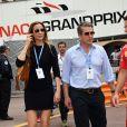 Hugh Grant et son épouse Anna Eberstein au 76e Grand Prix de Formule 1 de Monaco, le 27 mai 2018. © Bruno Bebert/Bestimage