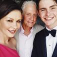 Catherine Zeta-Jones, Michael Douglas et leur fils Dylan sur une photo publiée sur Instagram le 27 mai 2018.