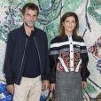 Eric Lartigau et sa compagne Marina Foïs - Photocall du défilé de la collection croisière Louis Vuitton 2019 dans les jardins de la fondation d'art Maeght à Saint-Paul-De-Vence, France, le 28 mai 2018.