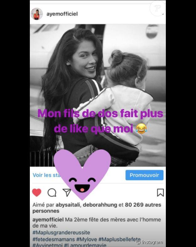 AYem Nour se fait voler la vedette par son fils, le 28 mai 2018.
